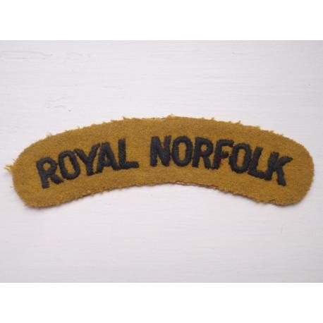 WW2 ROYAL NORFOLK Shoulder Title