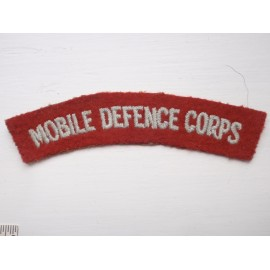 MOBILE DEFENCE CORPS Shoulder Title