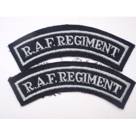 WW2 RAF Regiment Shoulder Titles