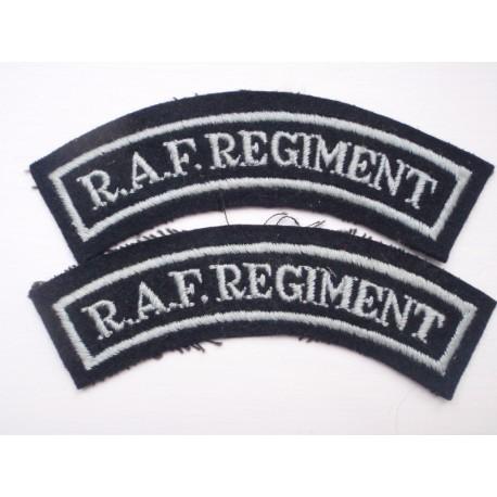 WW2 RAF Regiment Shoulder Titles