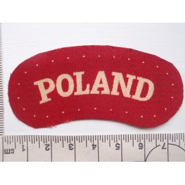 WW2 Printed 'POLAND' Shoulder Title