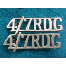 4th/7th R.D.G. (Royal Dragoon Guards) Shoulder Titles