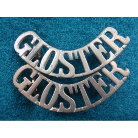 'GLOSTER' Brass Shoulder Titles