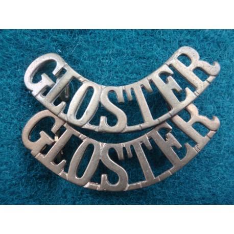 'GLOSTER' Brass Shoulder Titles