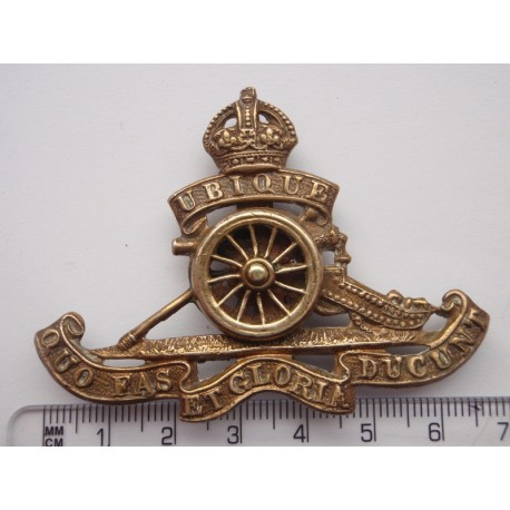 Ww1 Spinning Wheel R A Cap Badge Gradia Military Insignia