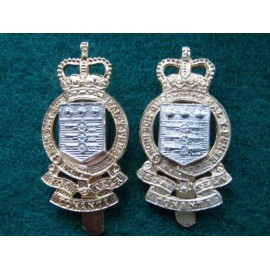 2 R.A.O.C Anodised Cap Badges