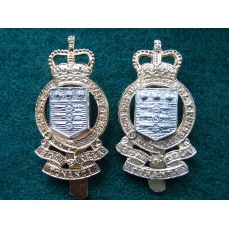 2 R.A.O.C Anodised Cap Badges