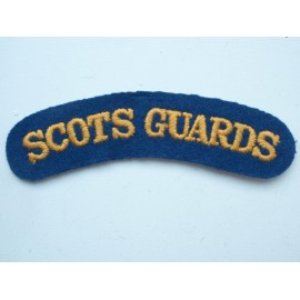 SCOTS GUARDS Wool Shoulder Title