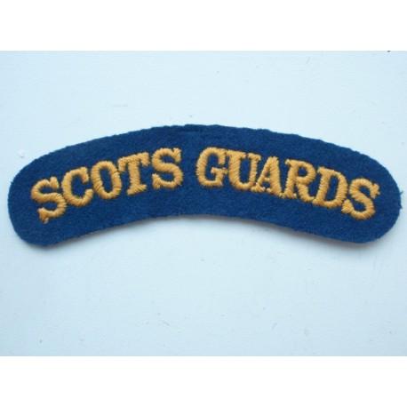 SCOTS GUARDS Wool Shoulder Title