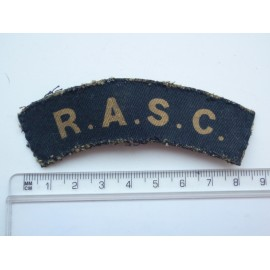 WW2 R.A.S.C Printed Shoulder Title