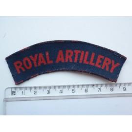 WW2 Royal Artillery Printed Shoulder Title