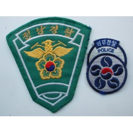 Korean National Police Patches