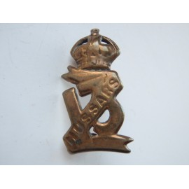 WW1 13th HUSSARS Cap Badge