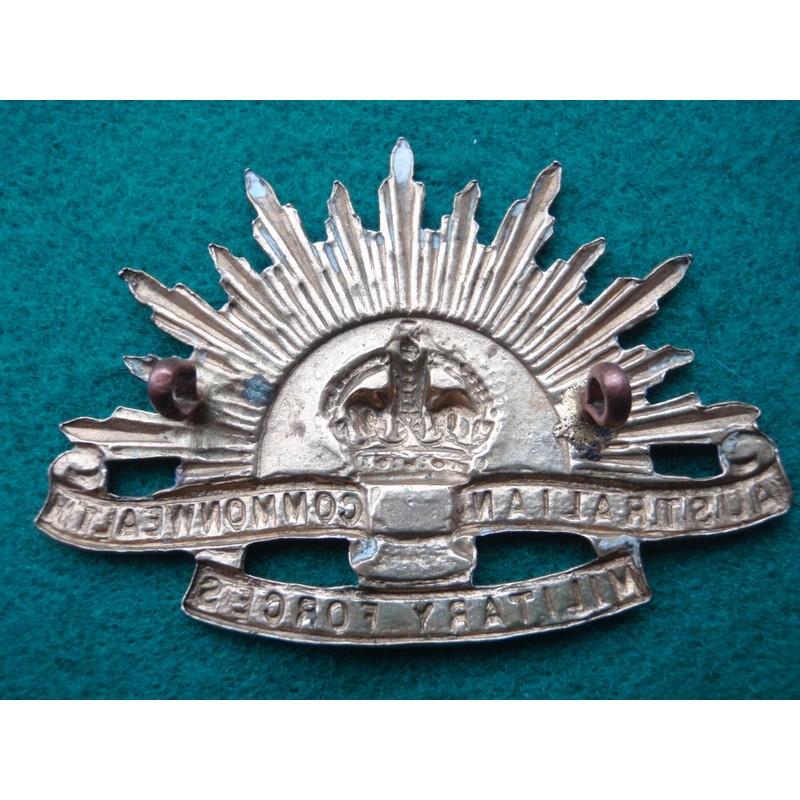 Ww1 2 Australian Rising Sun Brass Hat Badge Gradia