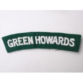 GREEN HOWARDS Wool Shoulder Title