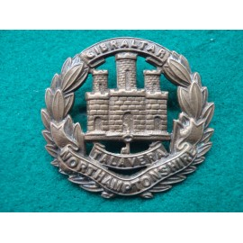 The Northamptonshire Regt All Brass cap Badge