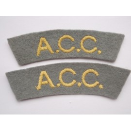 WW2 A.C.C Shoulder Titles