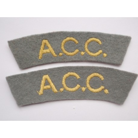 WW2 A.C.C Shoulder Titles