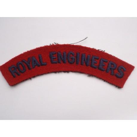 WW2 ROYAL ENGINEERS Shoulder Title