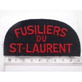 Fusilier Du St-Laurent Cloth Shoulder Title
