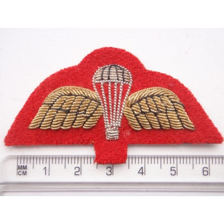 British Army Bullion on Red Para Wings