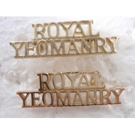 'ROYAL YEOMANRY' Anodised Shoulder Title