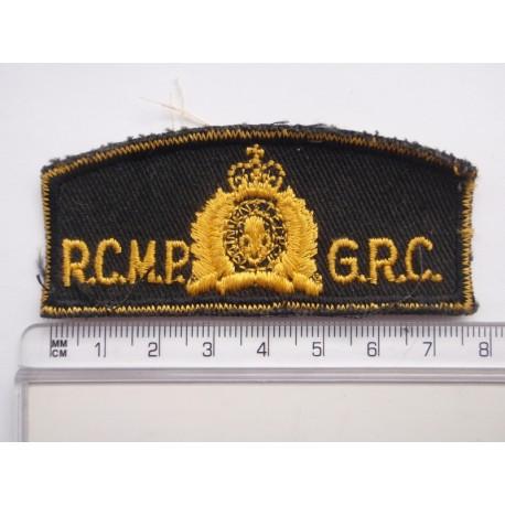R.C.M.P (Royal Canadian Mounted Police) Shoulder Title