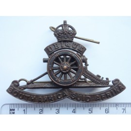 WW2 South African Artillery Officers Bronze Cap Badge