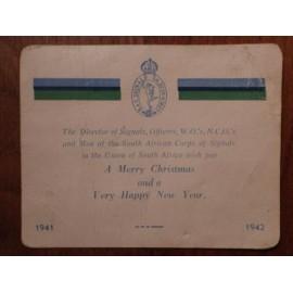 WW2 S.A.C Signals Xmas Card