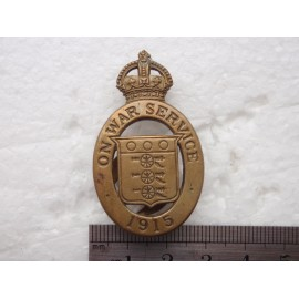 1915 On War Service Lapel Badge