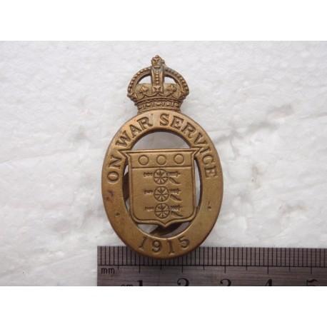 1915 On War Service Lapel Badge