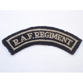 WW2 R.A.F REGIMENT Shoulder Title