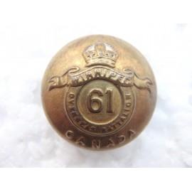 WW1 61st Batt C.E.F Winnipeg & Man Button