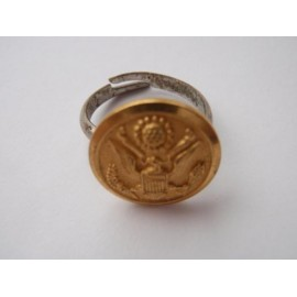 US Army Button Ring
