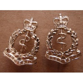 Rhodesia Army Medical Corps Anodised Collar Badges