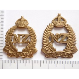 WW1/2 British Section NZ Expeditionary Force Collar Badges