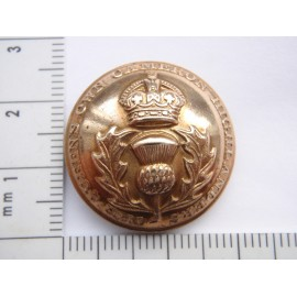 Post 1902 The Queens Own Cameron Highlanders Button