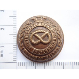 Post 1881 The North Staffordshire Regt ( Prince of Wales) Button
