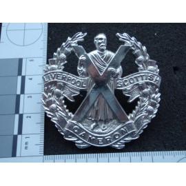 Liverpool Scottish Anodised Cap Badge