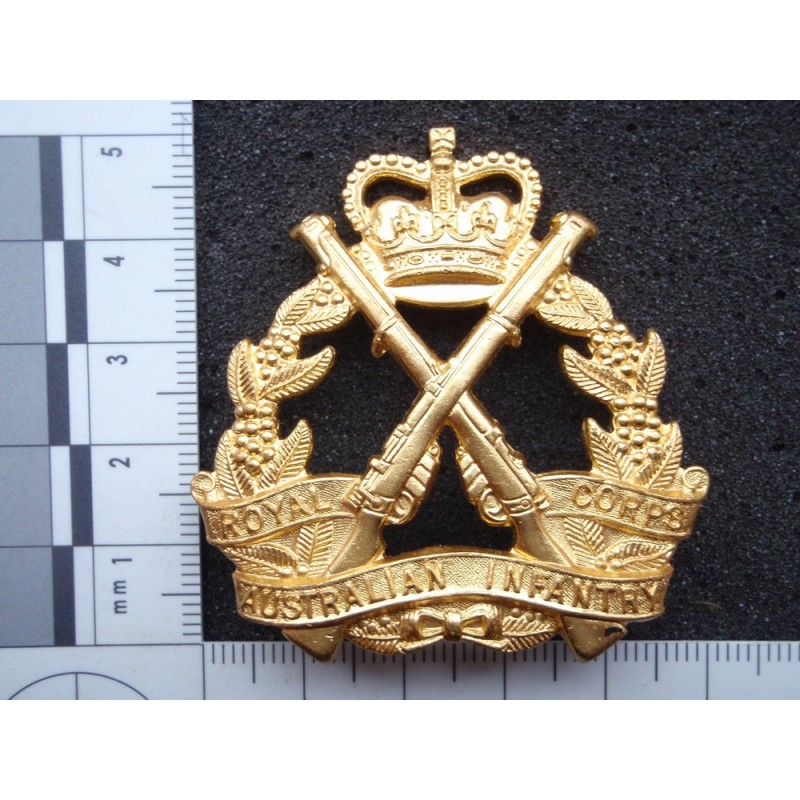 Royal Australian Infantry Corps Cap Badge Gradia