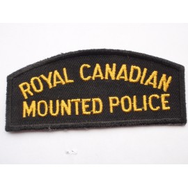 Royal Canadian Mounted Police Shoulder Title