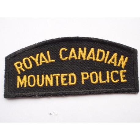Royal Canadian Mounted Police Shoulder Title