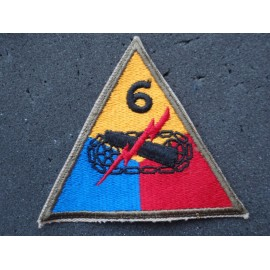 WW2 US 6th Armoured Division Sleeve Patch