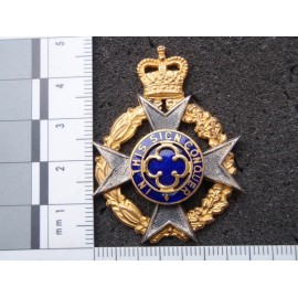 Royal Army Chaplains Dept Gilt & Enamel Cap Badge