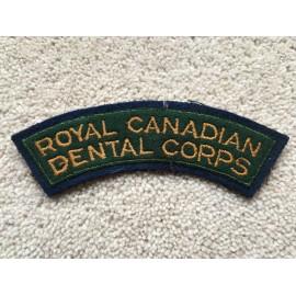 Royal Canadian Dental corps shoulder titles