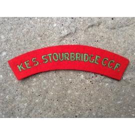 K.E.S Stourbridge C.C.F Cloth Shoulder Title