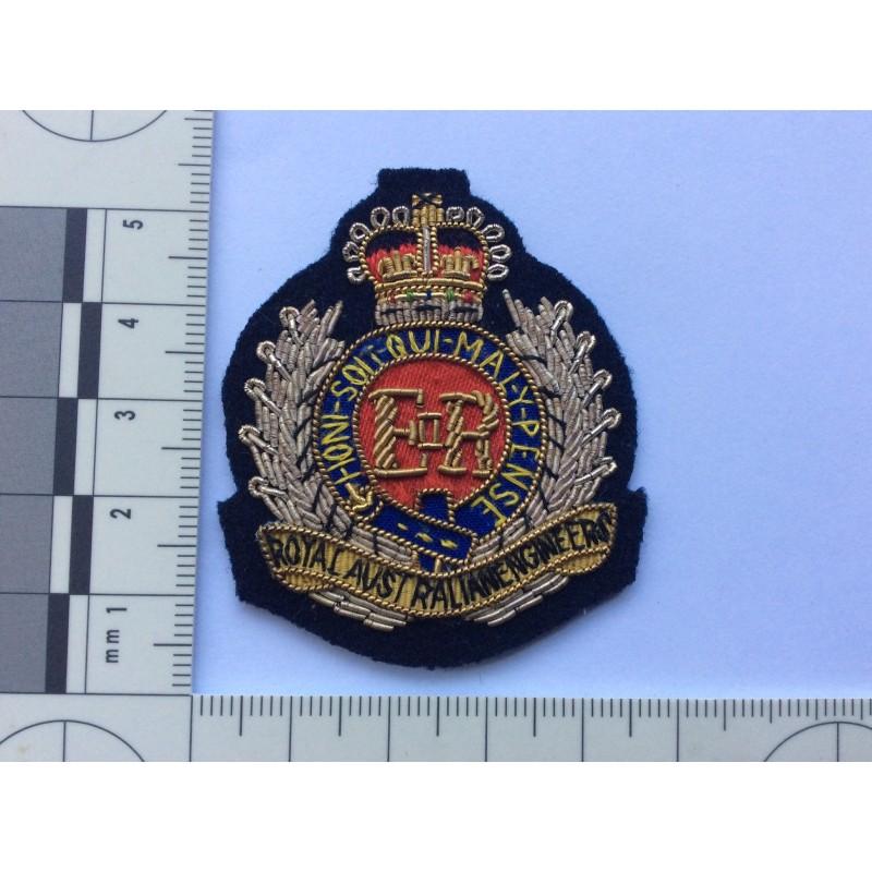Royal Australian Engineers Bullion Beret Badge Gradia
