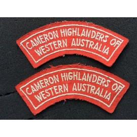 Cameron Highlanders of Western Australia Shoulder Titles