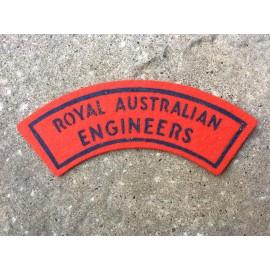 Royal Australian Engineers Printed Title.