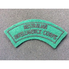 Australian Intelligence Corps Bordered Title